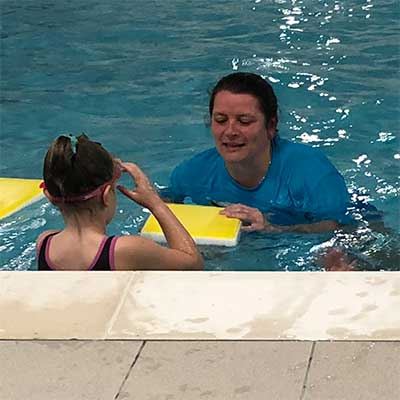 Swimming training